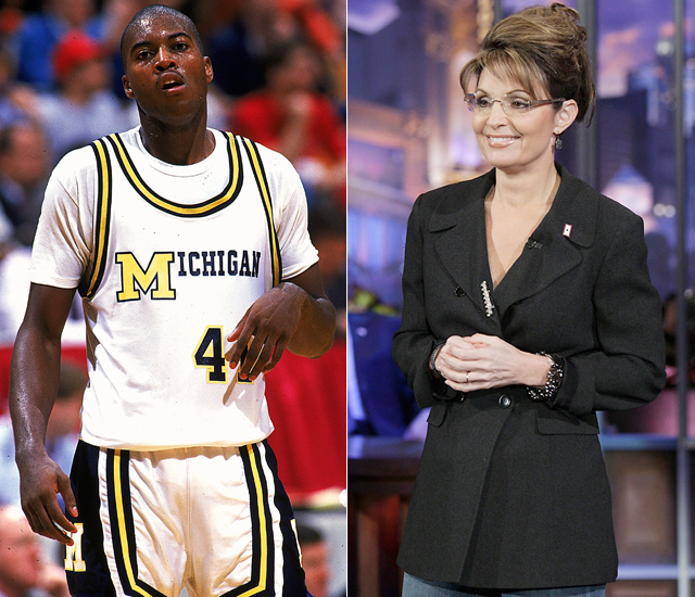 A portion of Joe McGinniss book  The Rogue: Searching for the Real Sarah Palin  alleged that in 1987 Palin and Rice had a fling when Rice was a college basketball star with Michigan and Palin was a sports reporter in Alaska.