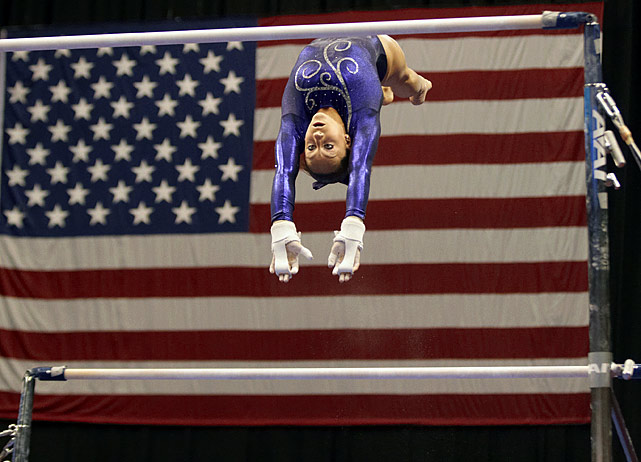Though she was merely a rookie in senior-level competition, Michigan's Wieber, 16, established herself as the early Olympic favorite by winning the all-around title at the world gymnastics championships in Tokyo in October. Leading up to Japan, Wieber had edged 2010 world champion Aliya Mustafina of Russia to win the American Cup title and captured the U.S. national all-around crown by a full six points. Following the gold-medal efforts of Carly Patterson and Nastia Liukin at the last two Olympics, Wieber may well give the U.S. a three-peat in London. (And watch out for her U.S. teammate Rebecca Bross, who is recovering from a knee injury.)