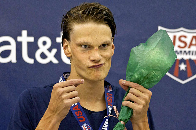 France's Yannick Agnel flashes a devious grin after winning the men's 200-meter freestyle on Friday Dec. 2. Agnel also won gold in the men's 400 freestyle.