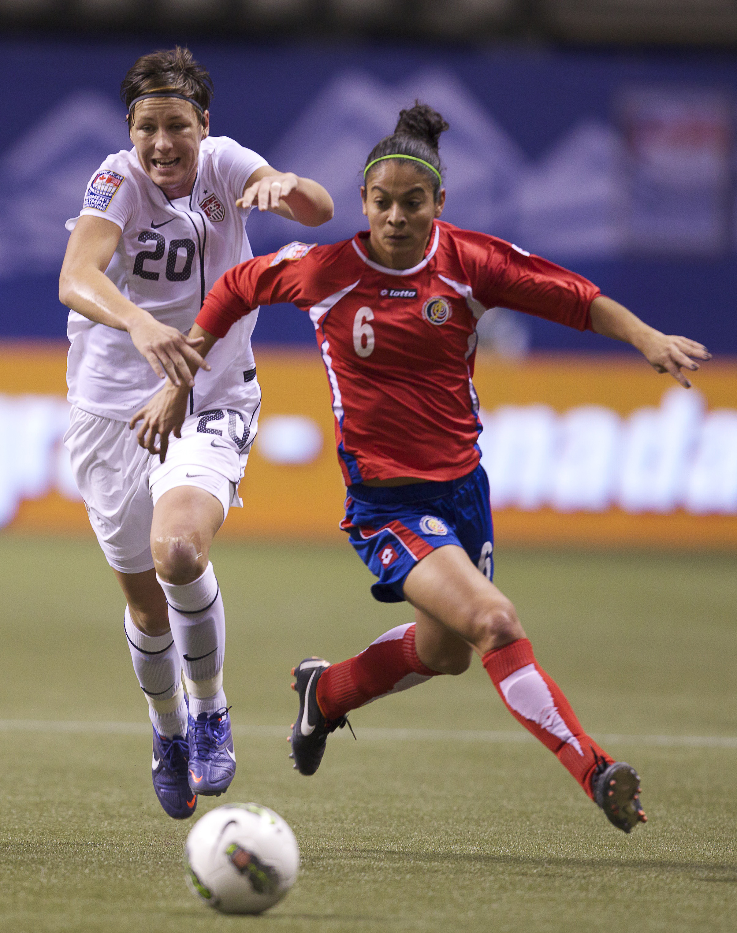 With her two goals against Canada in the CONCACAF finals, Abby Wambach moved into the no. 2 spot on the U.S. and world all-time scoring list, just behind women's soccer legend Mia Hamm.