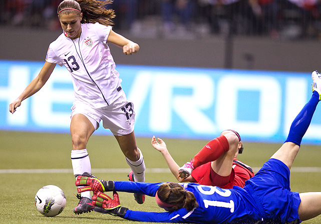 Alex Morgan contributed to both victories, scoring once against Costa Rica and twice against Canada.