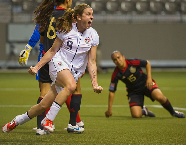 Heather O'Reilly scored the other goal as the U.S. avenged a World Cup qualifying loss to the Mexicans.
