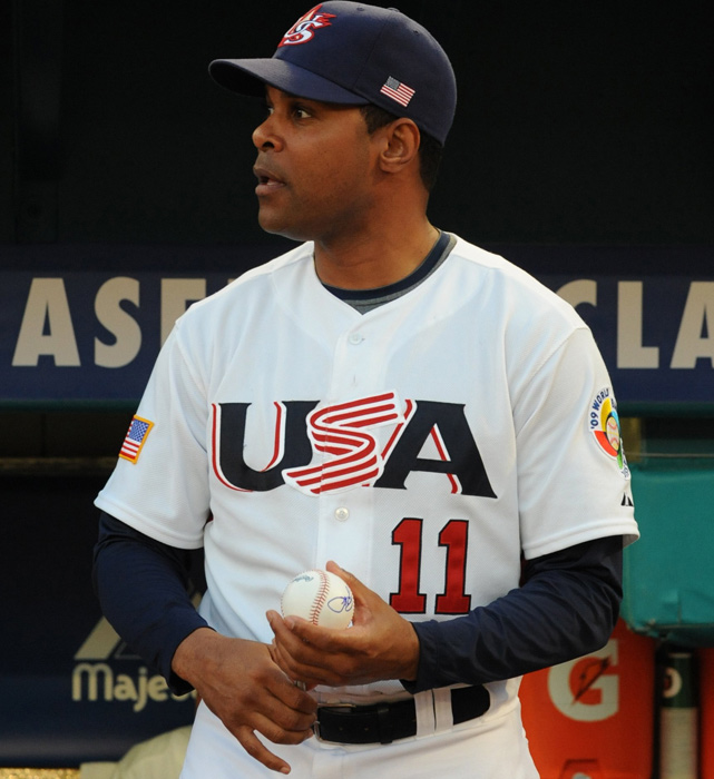 Larkin as Team USA's bench coach during the 2009 World Baseball Classic.