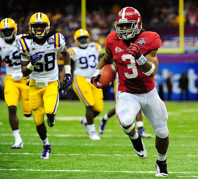 Trent Richardson delivered the only touchdown of the game, a 34-yard scamper in the fourth quarter.