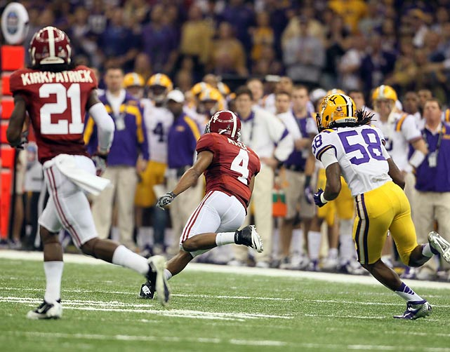 Speedster Marquis Maze gave Alabama some life with a big return in the first quarter...