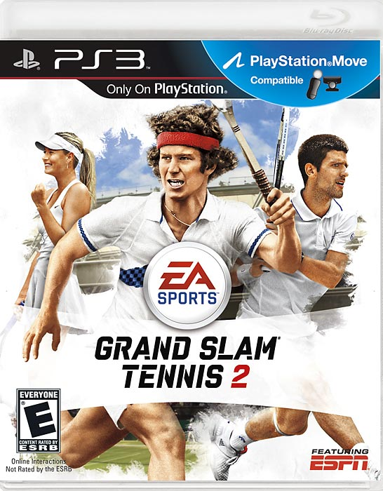 The cover of Grand Slam Tennis 2 features 2012 Australian Open finalist Maria Sharapova, tennis legend John McEnroe and 2012 Australian Open winner Novak Djokovic. The game features Xbox Kinect and Sony Move functionality. But if you don't like to play with motion controllers, EA's new Total Racquet Control is designed to use both sticks of a controller to move and return without the need for button commands. Grand Slam Tennis 2 retains an exclusive license to Wimbeldon, so if you want to try for a legit slam in HD, this is the ticket. Grand Slam Tennis 2 is scheduled to be released February 14.