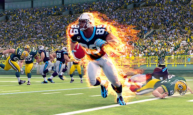 Midway's NFL Blitz started off in the late `90s as an arcade hit and then enjoyed plenty of success on various consoles. Now EA has resurrected Blitz as a downloadable game via Xbox Live and the Playstation Network. Blitz has been upgraded with HD graphics, current teams and rosters, and an amusing in-game commentary track. Gameplay is pretty similar to what you remember with seven-on-seven action, 30 yards for a first down and over-the-top player and tackling animations. Blitz has plenty of unlockable codes that enhance replay, and there's a decent amount of multiplayer options to explore once you start beating the game's single player modes. Blitz doesn't offer alternate uniforms, and don't expect to see every member of your favorite team on the roster. Blitz also bails on some fundamental accuracy, for instance Broncos quarterback Tim Tebow throws right-handed in the game.  Score: 7 out of 10