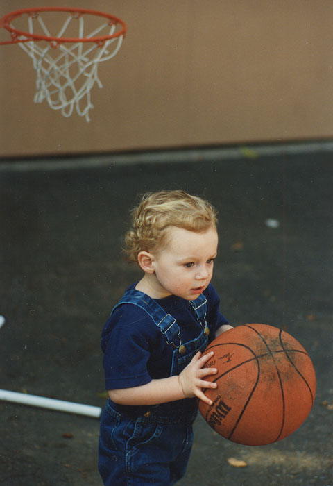 Love knew he was destined for a career in hoops, even at 2 years old.