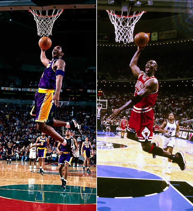 kobe v michael Who had a better offensive game: michael jordan or kobe bryant  kobe vs  jordan: who is better offensively kobe all the  his airness v the black  mamba.