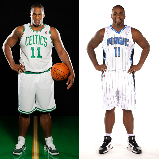 "Before:  Sept. 27, 2010  After:  Dec. 12, 2011  Now with the Orlando Magic, ""Big Baby"" looks less like a baby and more like a chiseled NBA forward after losing nearly 20 pounds since his days in Boston."