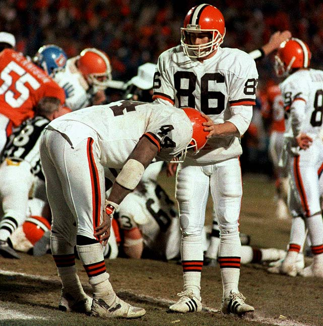 "It's been more than 20 years, but Cleveland fans are still cringing about ""The Fumble."" With the Browns trailing 38-31 with just over a minute left in the game, Cleveland running back Earnest Byner coughed up the ball on the Broncos' two-yard-line to send Denver to the Super Bowl."