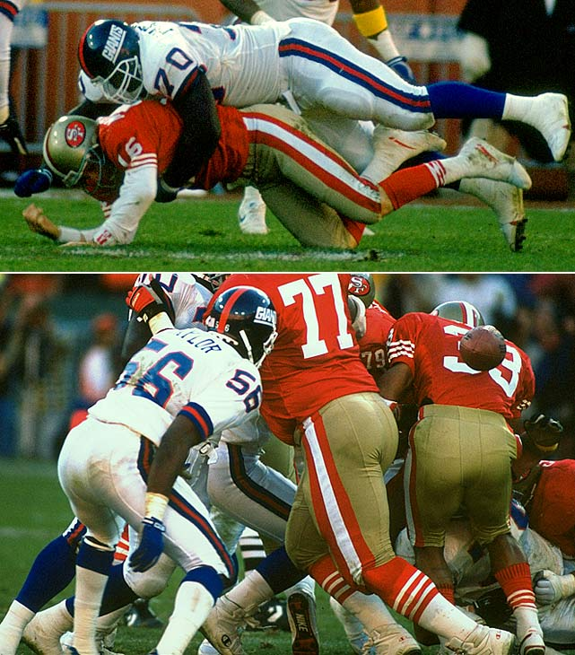 The Giants' defense -- which had earlier knocked Joe Montana out of the game -- came up huge with New York trailing 13-12 with 2 minutes, 36 seconds remaining, recovering 49er running back Roger Craig's fumble to set up the Giants' decisive drive. New York kicker Matt Bahr capped the final possession, nailing his fifth field goal as time expired to give the Giants a 15-13 victory.