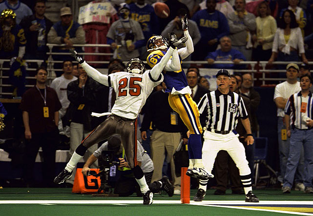 """The defensively stout Bucs held the Rams' """"Greatest Show on Turf"""" in check for most of the game, but Tampa Bay couldn't get a stop when it mattered most, giving up a touchdown with 4 minutes, 44 seconds left to lose 11-6."""