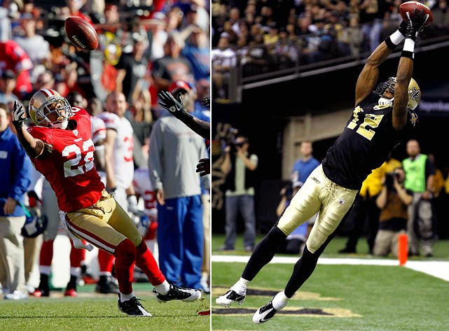 Rogers had one of the best seasons of his seven-year career in his first season in San Francisco, setting a career high with six interceptions and earning his first trip to the Pro Bowl. He'll have the tough job of stopping Colston on Saturday. The Saints receiver had 80 receptions for 1,143 yards and eight touchdowns in the regular season and added seven grabs and another 120 yards in last week's win over Detroit.