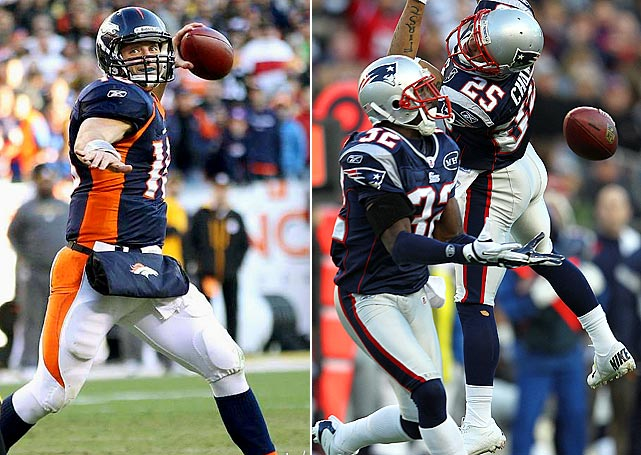 For all of his flaws as a passer, Tebow showed in the upset of Pittsburgh that he can throw effectively. Tebow completed three passes that went for at least 50 yards -- including the 80-yard catch-and-run overtime winner by Demaryius Thomas. Denver's newfound big play capability is bad news for New England's dreadful pass defense, which finished the regular season ranked second to last in the league.