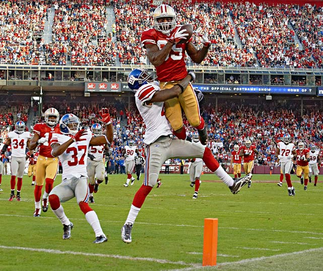 Davis absolutely destroyed the Saints in the Divisional round, going off for seven catches, 180 yards and two touchdowns -- including the emotional game winner -- in the 49ers' dramatic 36-32 win. After seeing what Davis did to New Orleans safety Roman Harper on Saturday, the Giants will likely consider doubling the big tight end with safety Antrel Rolle and/or corner Corey Webster.