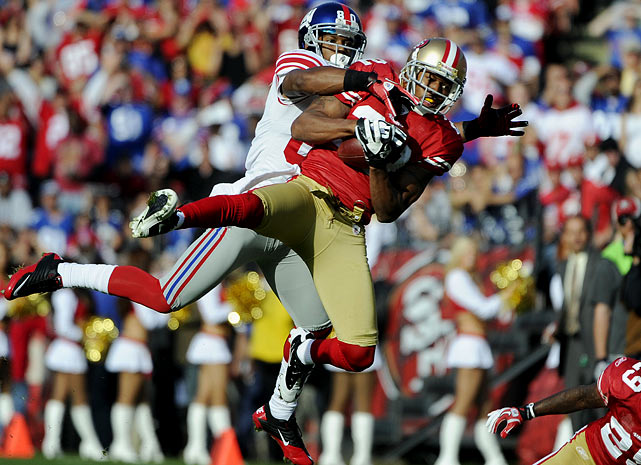 Both Cruz and Rogers had breakout 2011 seasons, with Cruz leading the Giants in every major receiving category and Rogers setting personal highs in interceptions and passes defensed, earning a Pro Bowl nod. They'll likely see a lot of each other on Sunday at Candlestick, and their battle could go a long way in determining the NFC champion.
