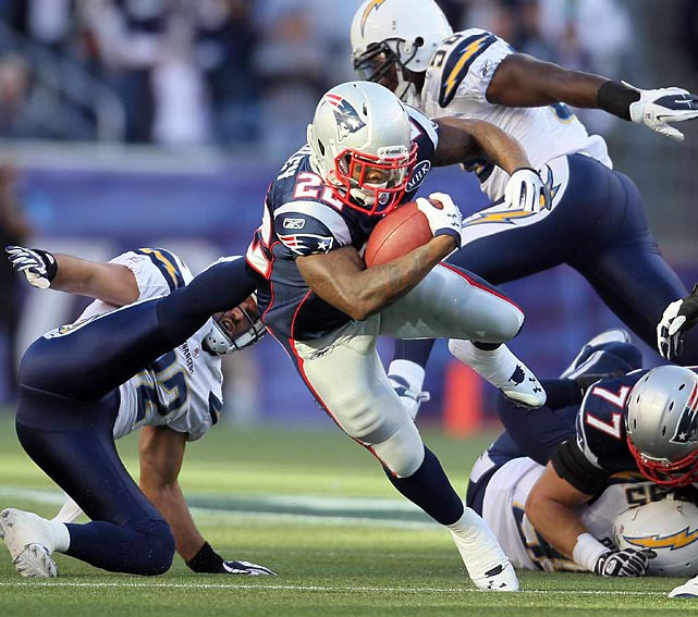 Rookie running back Stevan Ridley burst onto the scene at the end of the regular season, leading New England in both carries and rushing yards in the final three weeks. He'll likely be the Patriots' featured back in the playoffs and could arrive on the national stage with some solid play.