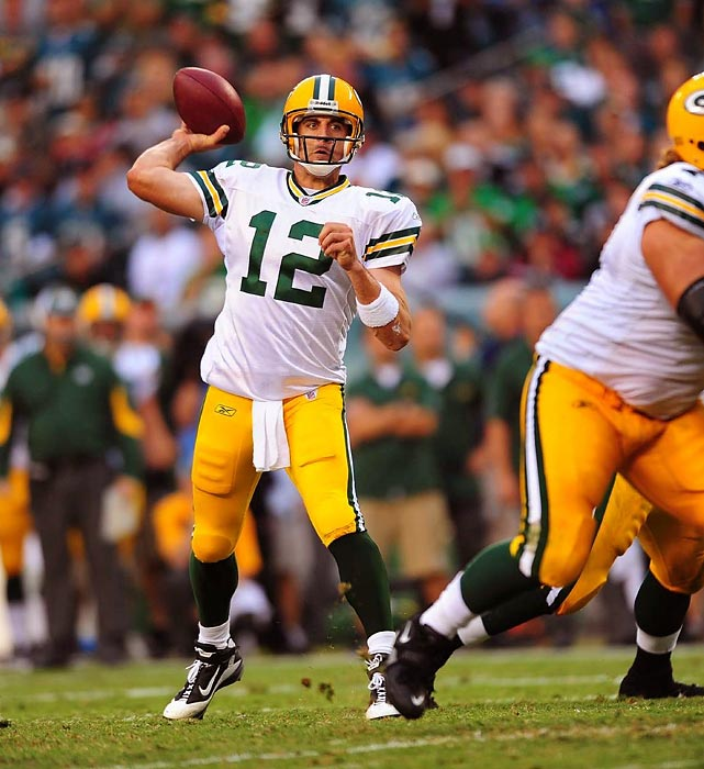 Plain and simple, Aaron Rodgers had one of the best seasons for a quarterback, ever. Rodgers set a new record for passer rating with a mark of 122.5. He threw for 4,643 yards, passing for 45 touchdowns and a mere six interceptions. He is the first quarterback in NFL history to throw for over 4,000 yards with six or fewer interceptions in a single season.