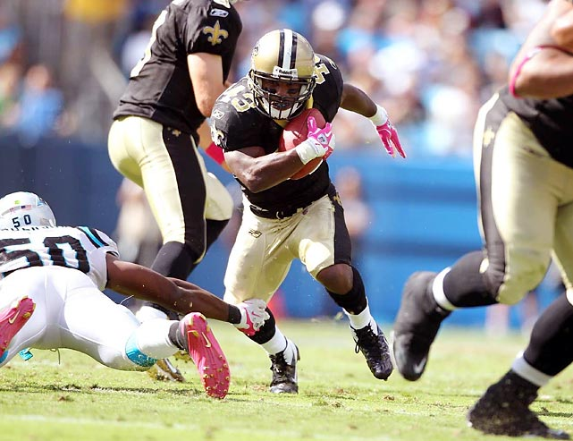 The speedy running back and return man excelled in his role for the Saints' record-breaking offense. Sproles finished with 2,695 all-purpose yards, five more than Titans' wide receiver Derrick Mason had in 2000. Sproles ended up with 603 rushing yards, 710 receiving yards (on 86 catches) and 10 total touchdowns.