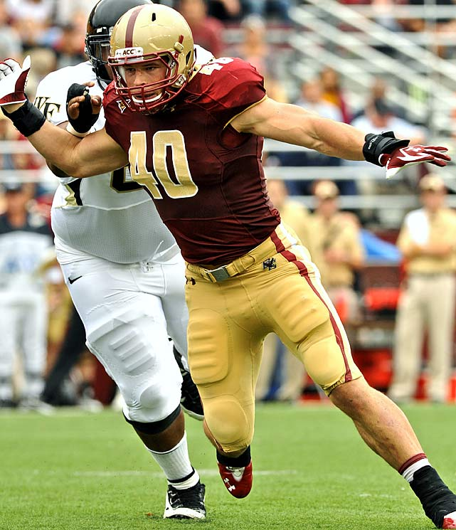 The 2011 Butkus Award winner had an outstanding career at BC, finishing with over 150 tackles in each of his three seasons and setting the NCAA record for tackles per game in 2011. He's the top linebacker in the draft and is projected to go in the early to mid first-round.