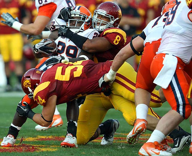 Perry had a great year for the Trojans, finishing first in the Pac-12 in 2011 with 9.5 sacks. The Detroit native could end up as a linebacker in a 3-4 scheme.