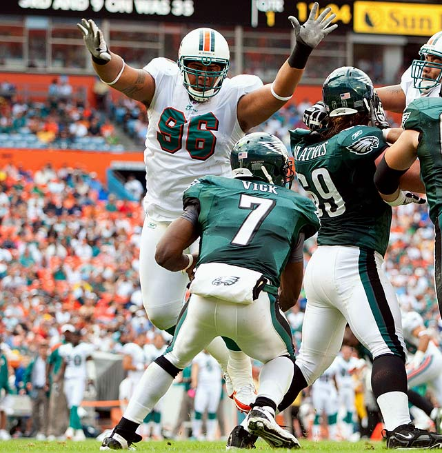 You may not notice Soliai on the stat sheet -- he only made 27 tackles in 2011 -- but the big defensive tackle was a key part of Miami's third-ranked rush defense. The fifth-year lineman, who was franchise tagged last offseason, eats up a lot of space in the middle, freeing other Dolphins defenders to make plays.