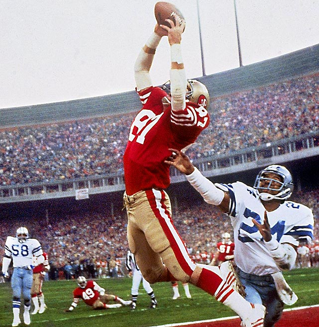 "Clark made one of the most famous plays in NFL history in the 1982 NFC Championship against Dallas, jumping as high as he could to make ""The Catch"" -- a fingertip touchdown grab that gave San Francisco a 28-27 lead with  just 51 seconds left."