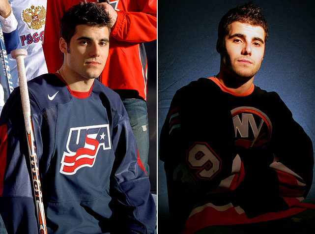 "With the 2004-05 season lost to a lockout, DiPietro makes four appearances for Team USA at the World Championships in May 2005 and plays brilliantly. In September, the Isles give him a new one-year, $2.5 million deal and he has his best campaign yet. Besides backstopping Team USA at the 2006 Winter Olympics, he finishes in the NHL's top 10 in saves (7th), games (63), and minutes (3,571:35), sharing the league lead with eight shootout wins while posting a 30-24-0-5 record with a 3.02 GAA and .900 save pct.  Unfortunately, the Isles fail to make the playoffs. ""Most people thought he was going to be the U.S. Olympic goalie [for years to come] and one of the elite goalies in the NHL,"" Red Wings GM Ken Holland later tells SI's Sarah Kwak.    CLICK HERE   to read Stephen Cannella's ""Islanders counting on highly touted young goaltender"" (SI 10.03.05)"