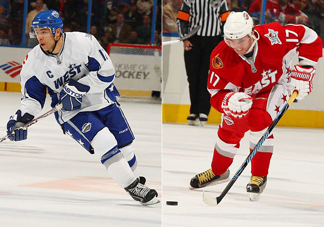 Jarome Iginla and Ilya Kovalchuk.