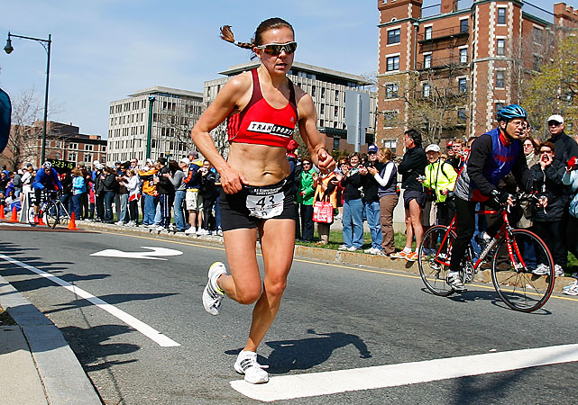 On paper, Lewy Boulet, 38, has the best chance of any 2008 Olympic women's marathoner to make the team again. Lewy Boulet did not finish the Beijing Olympic marathon due to a knee injury. She boasts the third-best qualifying time -- 2:26:22.