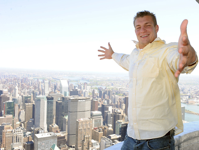 Since bursting onto the NFL scene, Rob Gronkowski has become one of the league's most popular stars. Whether posing shirtless with a porn star, posing on top of the Empire State Building or breaking various tight end records, the Patriots star is always up to something.