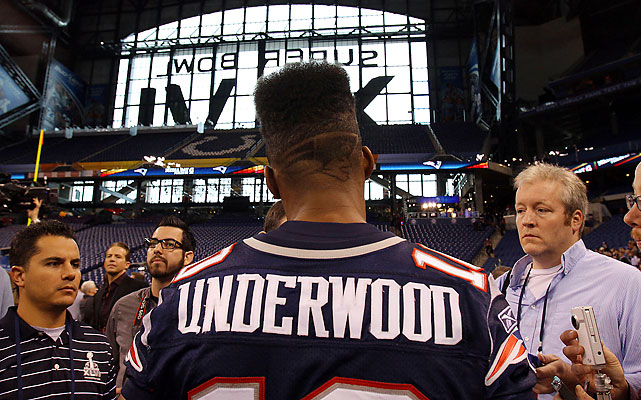 And Patriots wide receiver Tiquan Underwood, who showed off his super cut.