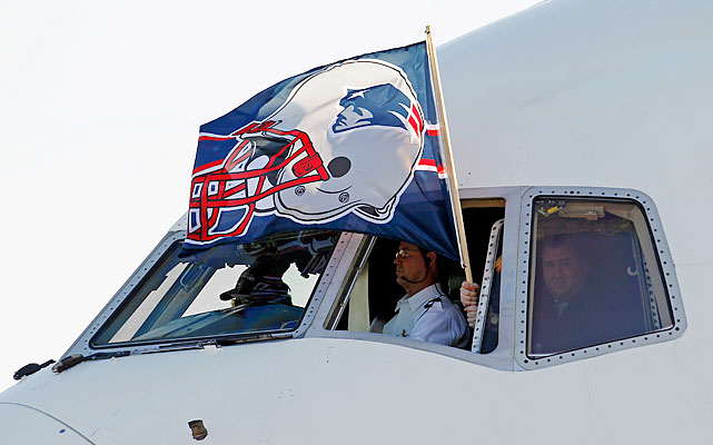 The Patriots arrived on Sunday.