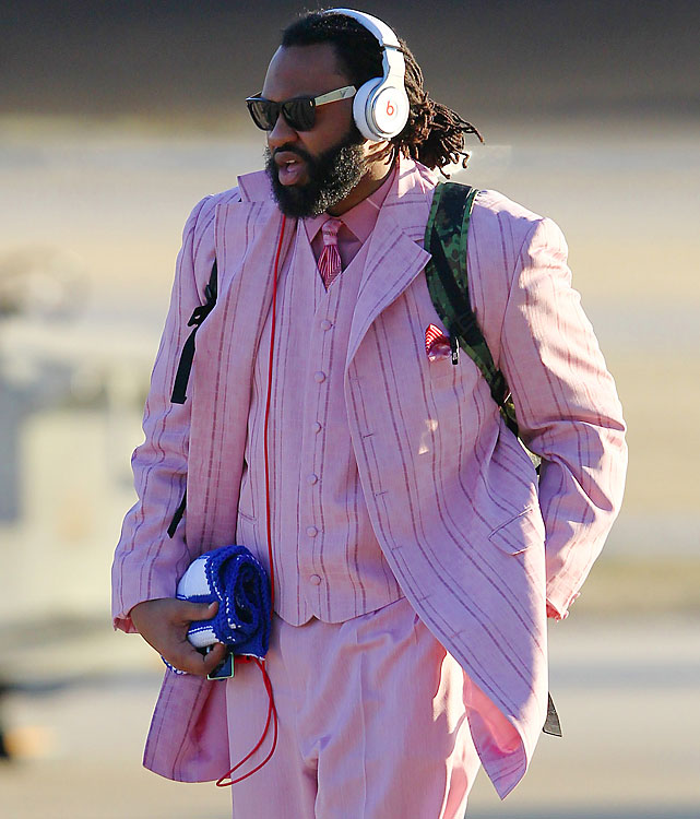 Patriots linebacker Brandon Spikes is man enough to go all pink.