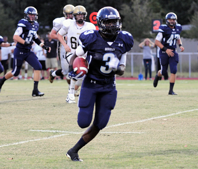 High School:  Berkeley Prep (Fla.)  Height:  6-1  Weight:  185 A model of versatility, Agholor served as a running back, wide receiver, defensive back and return man. He thrived at each: He tallied 2,362 all-purpose yards, 34 touchdowns and 35 tackles for the 12-1 Buccaneers. He'll likely play receiver in college, and signed with USC on National Signing Day.