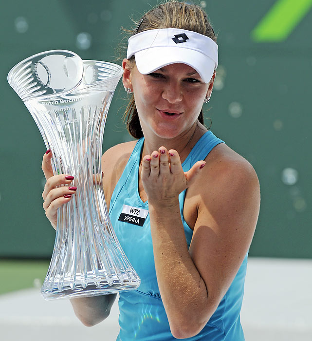 def. Maria Sharapova 7-5, 7-4 WTA International, Hard, $712,000 Key Biscayne, Fla.