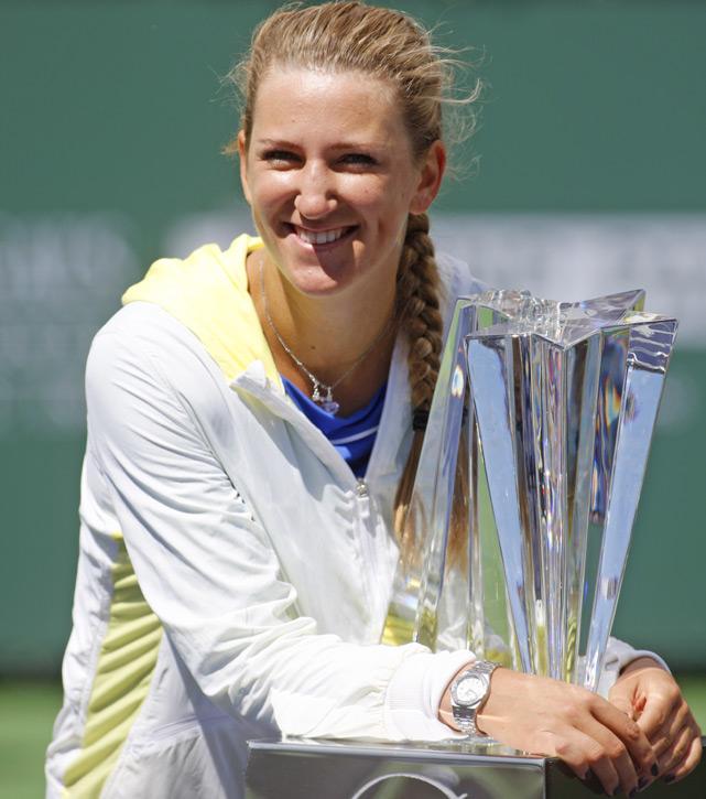 def. Maria Sharapova 6-2, 6-3 WTA International, Hard (Outdoor), $1,000,000 Indian Wells, Calif.