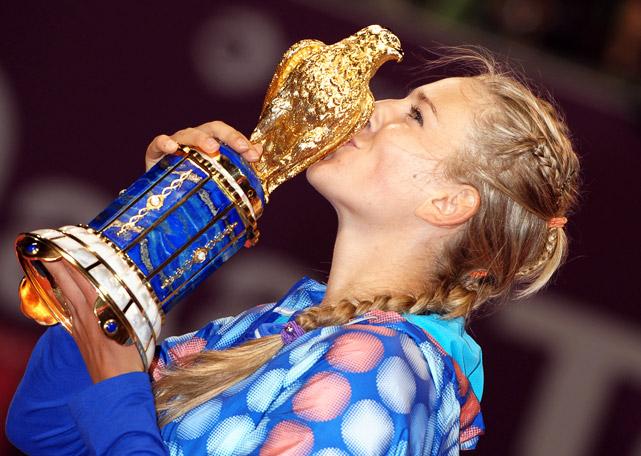 def. Sam Stosur 6-1, 6-2 WTA Premier, Hard (Outdoor), $2,168,400 Doha, Qatar