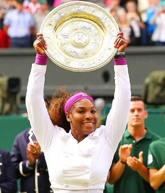 def. Agnieszka Radwanska 6-1, 5-7, 6-2Grand Slam, Grass, $11,174,883Wimbledon, England