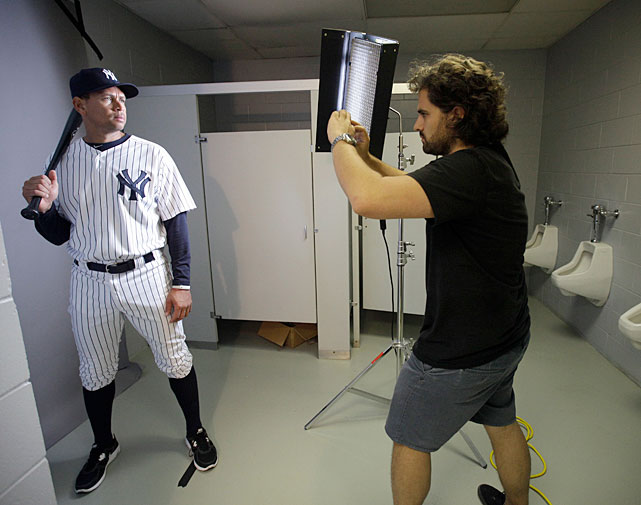 Alex Rodriguez's Photo Day took an odd turn on Monday when the photographer asked to pose in the bathroom of the team's spring training facility in Tampa. A-Rod isn't the first athlete to get photographed in the bathroom and certainly won't be the last. In A-Rod's honor, here's a look at athletes in the bathroom.