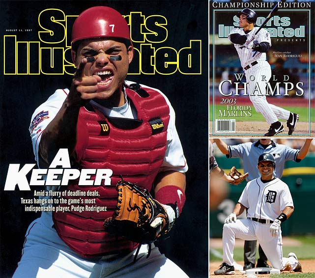 Rodriguez announced his retirement in April, ending a 21-year major league career that included a record 13 Gold Gloves at catcher.  A 14-time All-Star known as Pudge, Rodriguez spent his first 12 major league seasons with the Rangers and won the 1999 American League MVP with Texas, when he hit .332 with 35 homers and 113 RBIs. He returned to the Rangers briefly in 2009.  Rodriguez finishes with a .296 batting average, 2,884 hits, 311 home runs and 1,332 RBIs. He broke the record of 10 Gold Gloves at catcher that had been held by Johnny Bench and hit .300 or better 10 times. He was a World Series champion with the Florida Marlins in 2003.