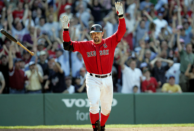 Boston's captain from 2005 to 2011, Varitek was a standout during his time at Fenway, winning two titles and one Silver Slugger award, earning three All-Star selections and catching a Major League-record four no-hitters in his 15-year career.
