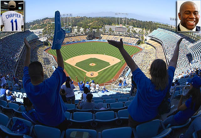 Pending a bankruptcy court's approval, the Los Angeles Dodgers will be sold for a record $2 billion to a group that includes NBA Hall of Famer Magic Johnson. No North American franchise has ever been sold for that amount. In 2004, Frank McCourt paid $430 million for the team.