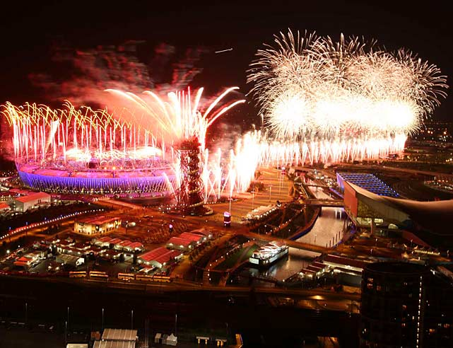 With the Queen on hand and Paul McCartney and others performing, the 2012 Summer Olympics opened with a colorful celebration of the United Kingdom's history.
