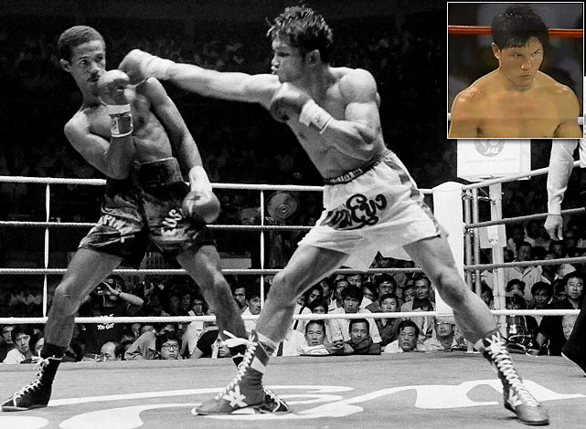 Khaosai Galaxy  (main): WBA Super Flyweight, 11/84-1/92   Khaokor Galaxy  (inset): WBA Bantamweight, 5/88-8/88, 7/89-10/89