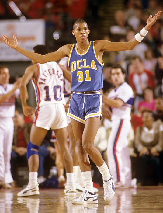 Reggie Miller is incredulous with a call during a 1984 road game at DePaul. Miller is third all-time leading scorer at UCLA.