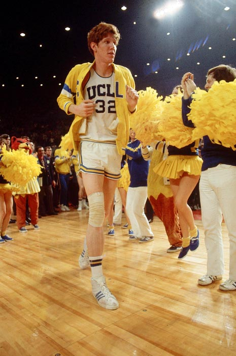 Walton is introduced onto the court before a Final Four game against Louisville.