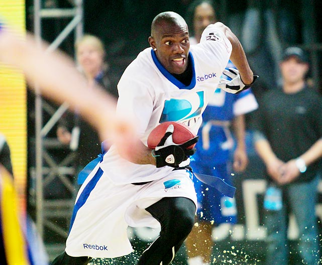 Hoping to attract an NFL team's interest in his still considerable self-promotion skills, T.O. strutted his stuff in the Directv Celebrity Beach Bowl at Victory Field in Indianapolis on Feb. 4.