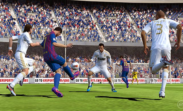 FIFA is hands down the best sports game to launch with the Vita. The game looks as sharp as its console predecessor and FIFA takes full advantage of both of the Vita's touch screens. Send passes all over the field simply by touching the area of the field you'd like to kick to. Once you're within range of the goal, you can poke the rear touch pad to aim your shot. Both functions are easy to pick up after a few minutes of play. Pretty quickly you'll forget what buttons to use for passing and shooting. Three different career modes (player, manager or player-manager) will take up the bulk of your time in FIFA and you can also join multiplayer matches online. The entire experience feels as if you just loaded up your console version of FIFA and shrunk the screen.  Score: 9.5 out of 10